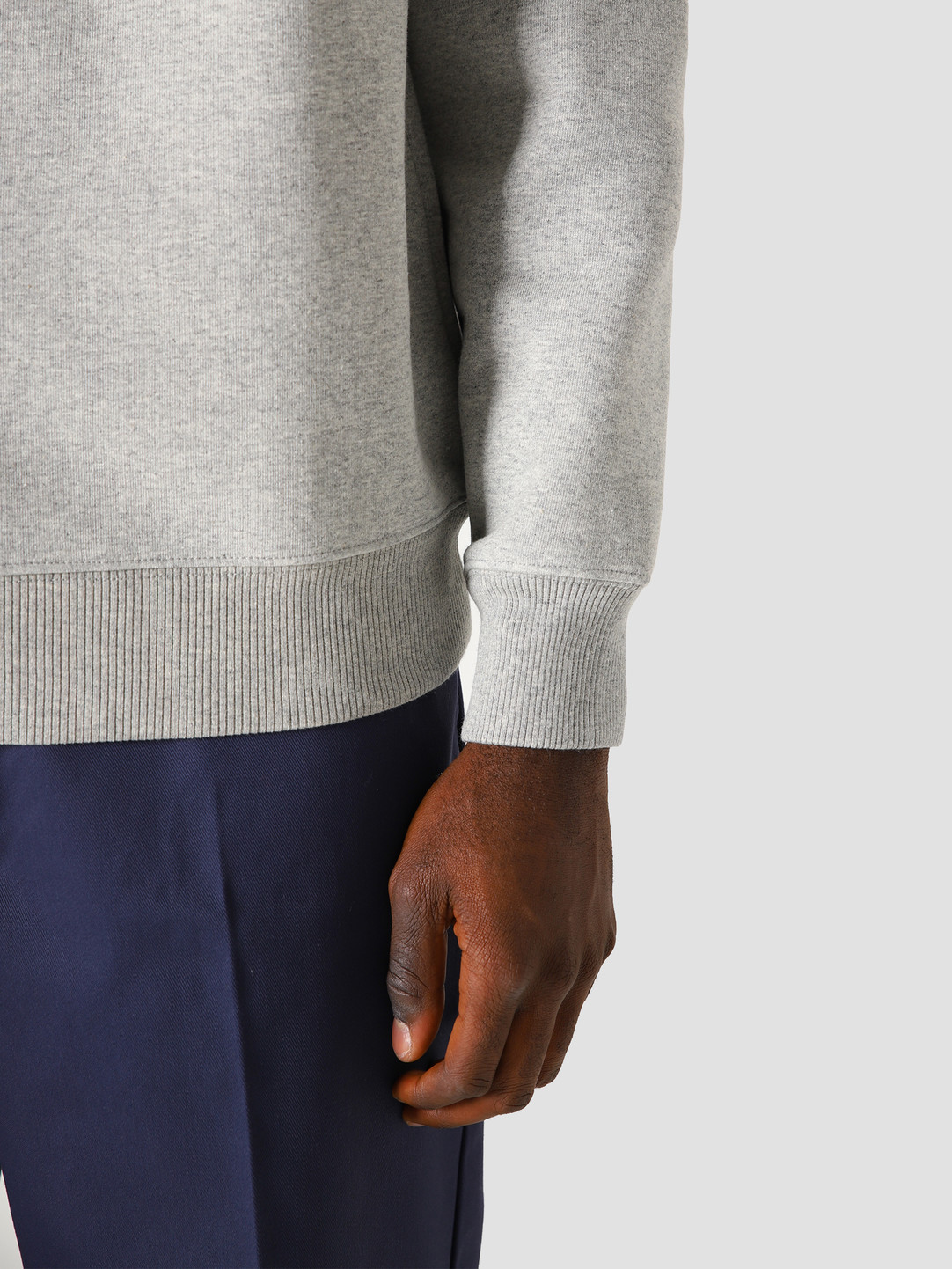 Obey x Dickies Heavyweight Crewneck Sweater Grey Melange