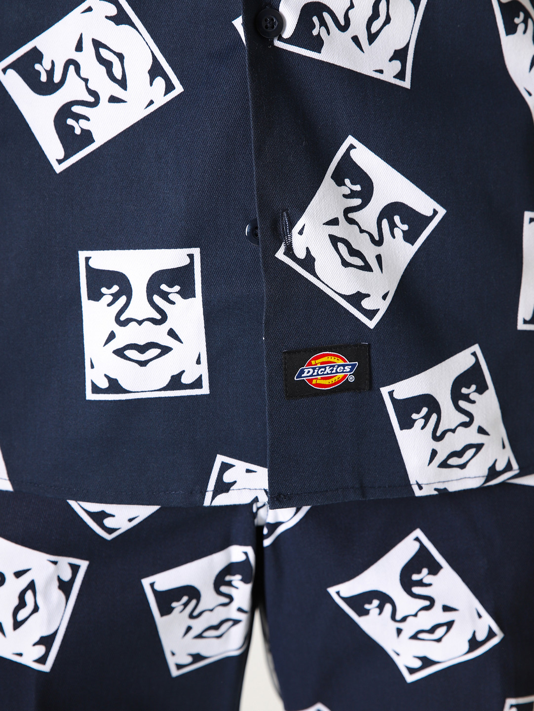 Obey Obey x Dickies WS576 Work Shirt Dark Navy 181210300DNV