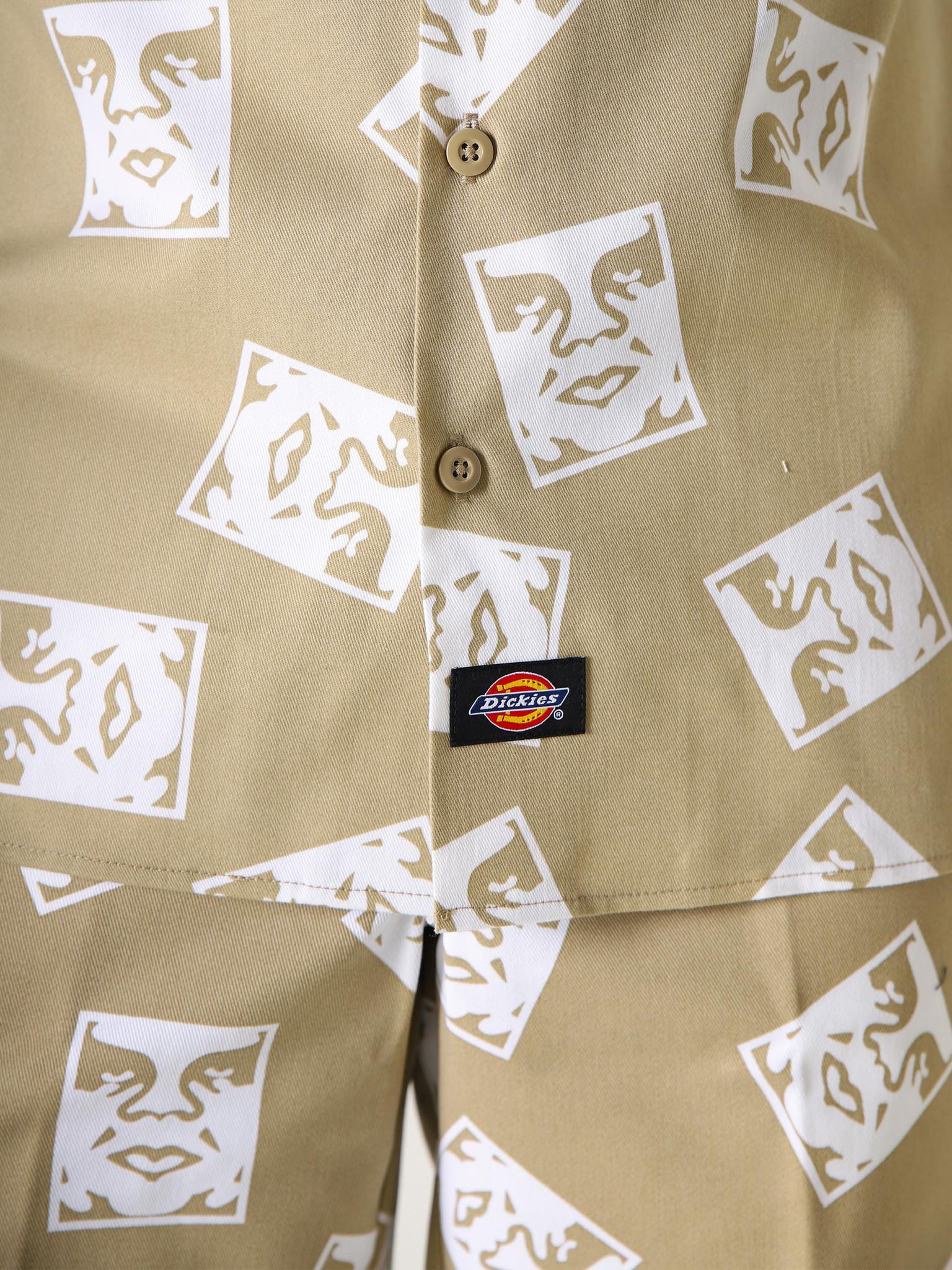 Obey Obey x Dickies WS576 Work Shirt Khaki 181210300KHA