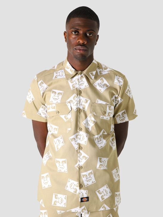 Obey x Dickies WS576 Work Shirt Khaki 181210300KHA