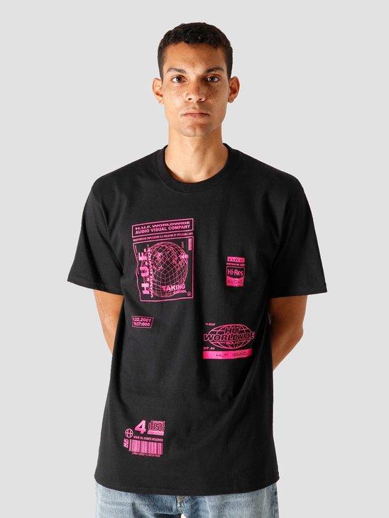 HUF Bit-6 T-Shirt Black TS01173-BLACK