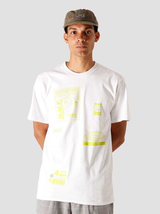 HUF Bit-6 T-Shirt White TS01173-WHITE