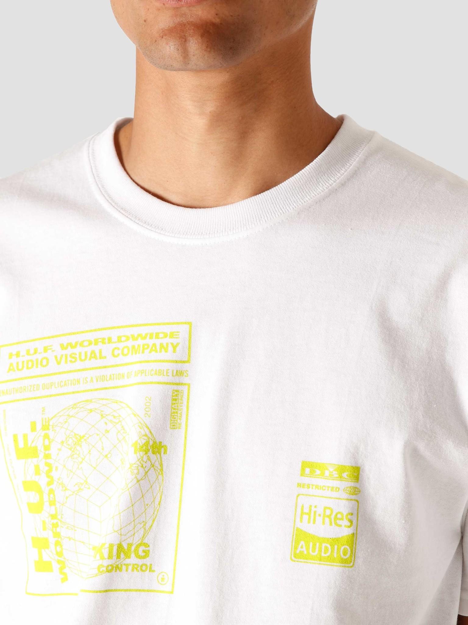 HUF HUF Bit-6 T-Shirt White TS01173-WHITE