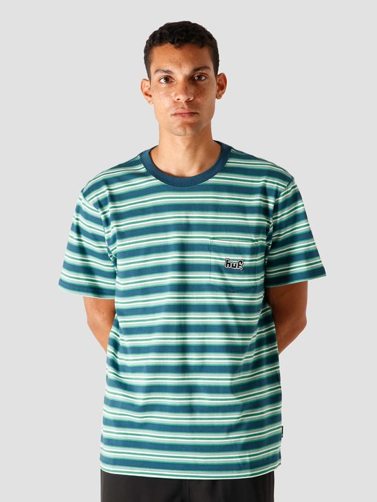 HUF Jett Stripe T-Shirt Top Digital Teal KN00212-DTEAL