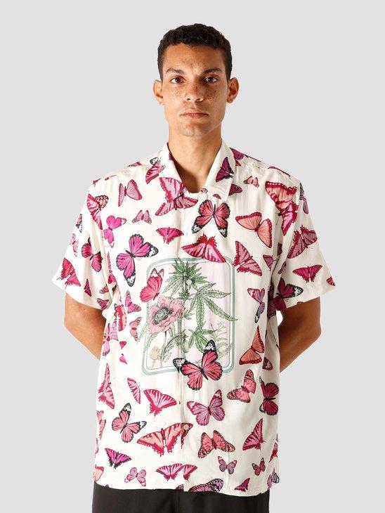 HUF Papillon Shortsleeve Woven Shirt Unbleached BU00076-UNBL