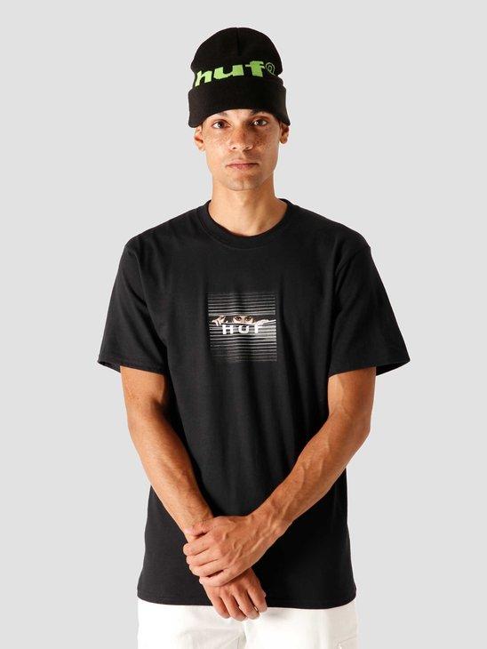 HUF Voyeur Logo T-Shirt Black TS01175-BLACK