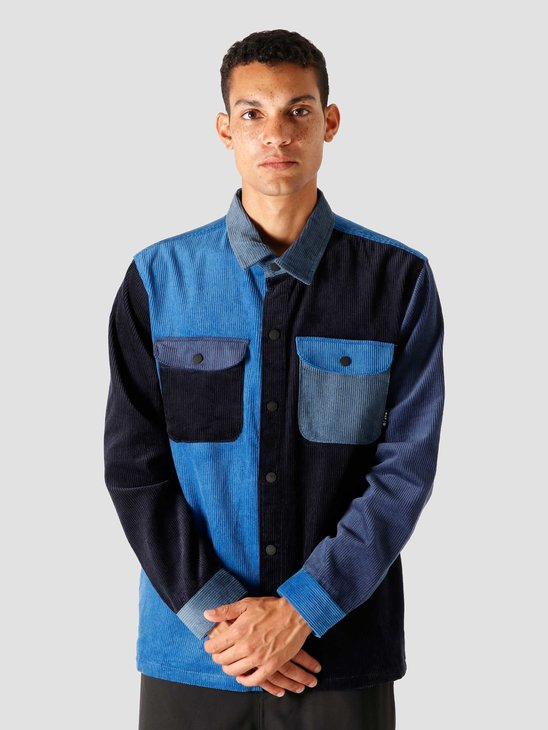 HUF Cord Block Overshirt French Navy BU00078-FRNVY