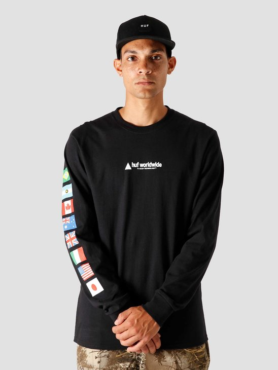 HUF Flag Union Longsleeve Black TS01168-BLACK