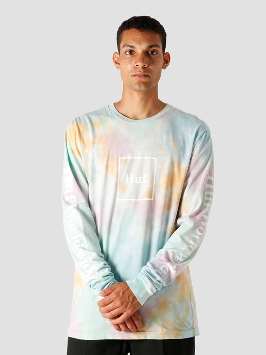 HUF Prism Wash Domestic Longsleeve White TS01184-WHITE