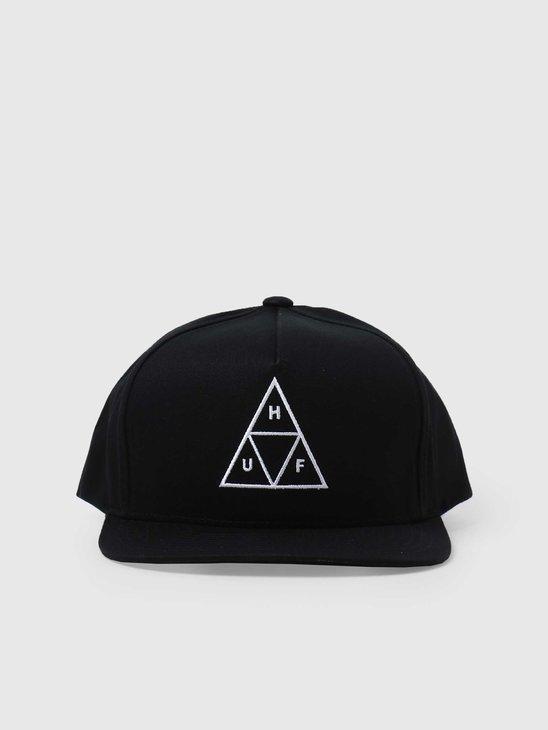 HUF Essentials TT Snapback Hat Black HT00344