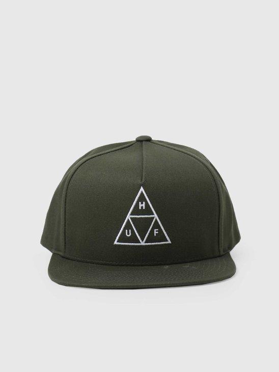 HUF Essentials TT Snapback Hat Olive HT00344-OLIVE