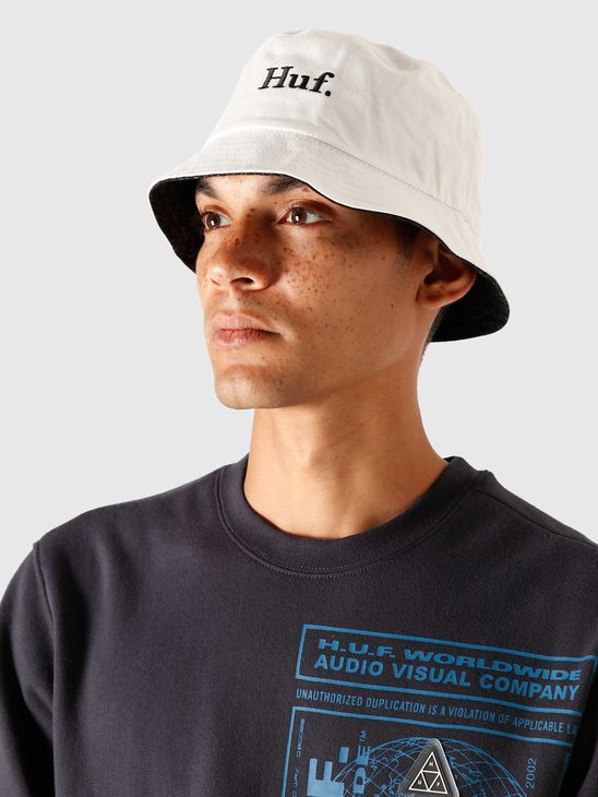 HUF Fuck It Reversible Bucket Hat Black/White HT00496-BKWHT