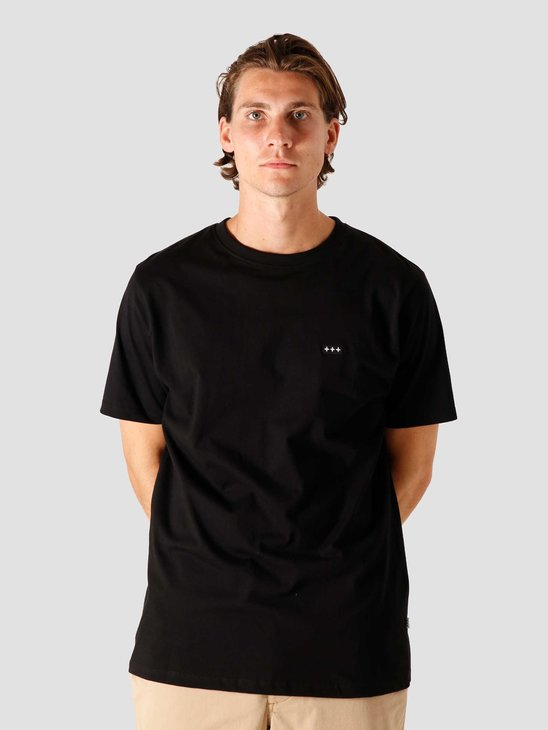 Quality Blanks QB03 Patch Logo T-shirt Black