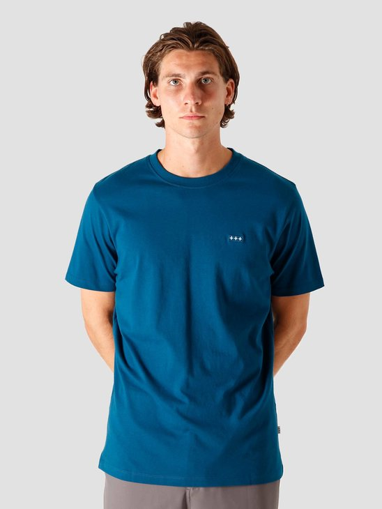 Quality Blanks QB03 Patch Logo T-shirt Night Blue
