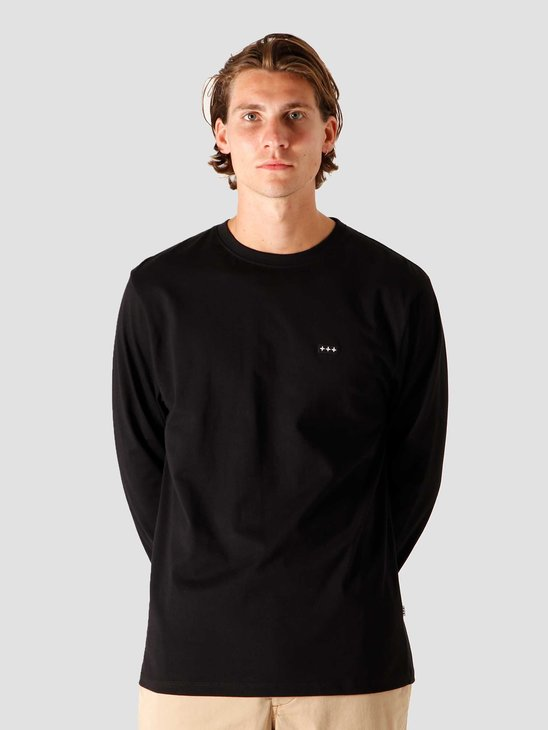 Quality Blanks QB05 Patch Logo Longsleeve Black
