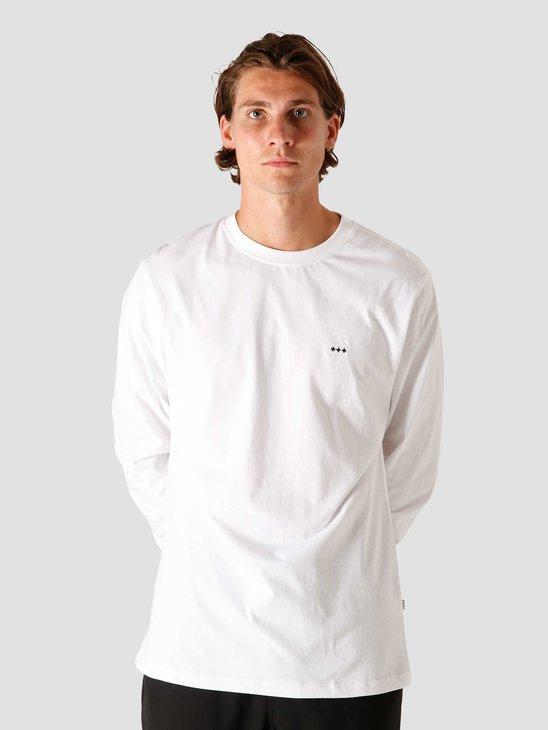 Quality Blanks QB05 Patch Logo Longsleeve White