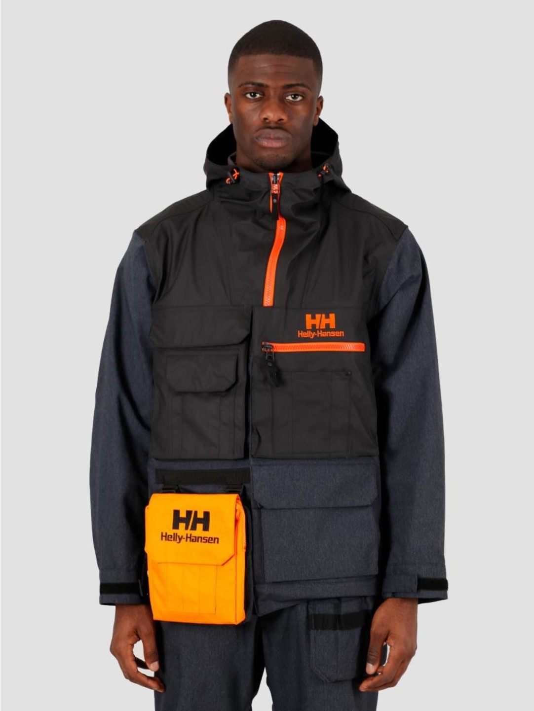 Helly Hansen Helly Hansen Heritage PU Hybrid Rain Jacket Navy 53470-597