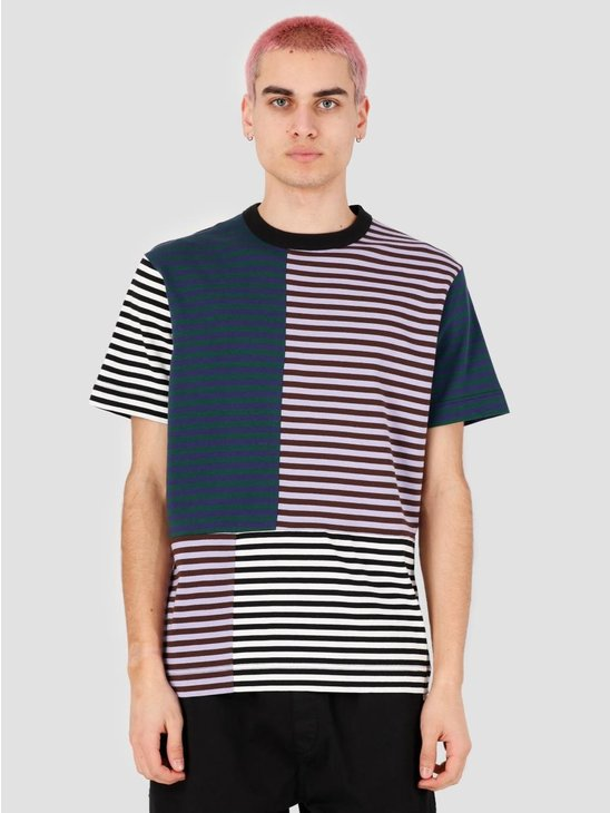 EU FC Arcela Patchwork Stripe T-shirt Multi Color