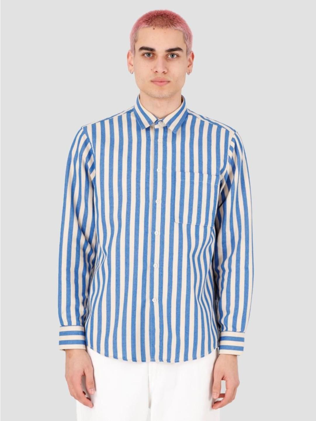 EU FC EU FC Camoes Stripe Shirt Blue Beige