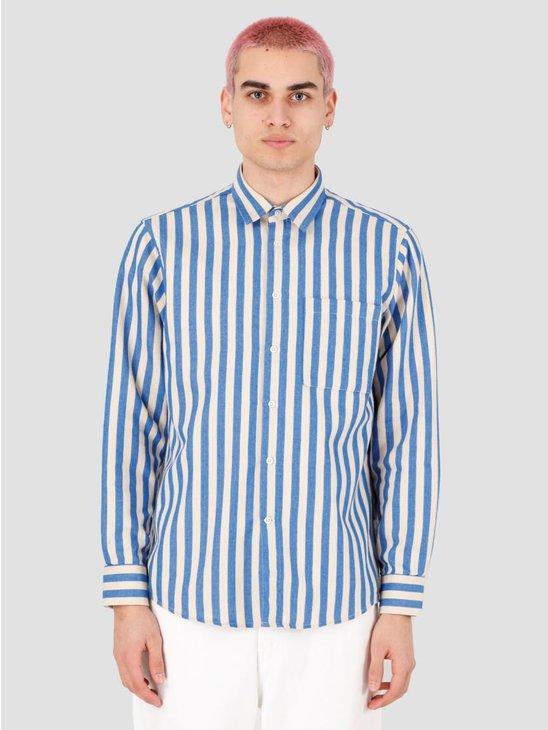 EU FC Camoes Stripe Shirt Blue Beige