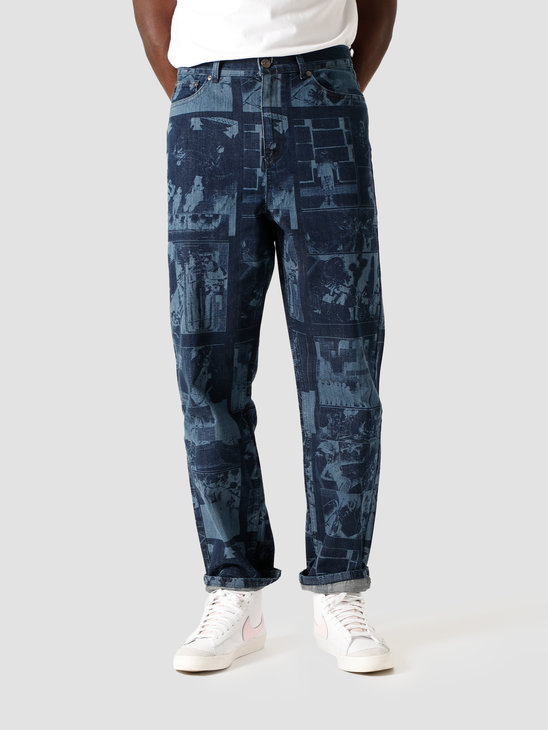 Daily Paper Jarzeb Lazer Pants Lazered Denim 2021078