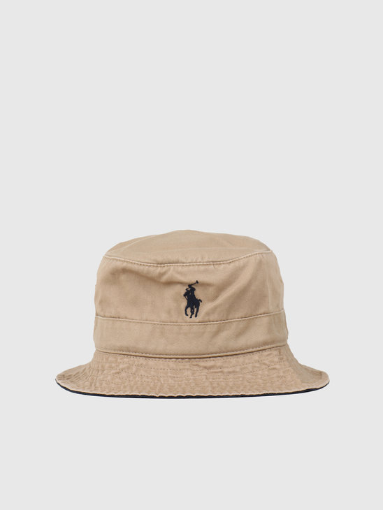 Polo Ralph Lauren Loft Bucket Hat Boating Khaki 710798567002