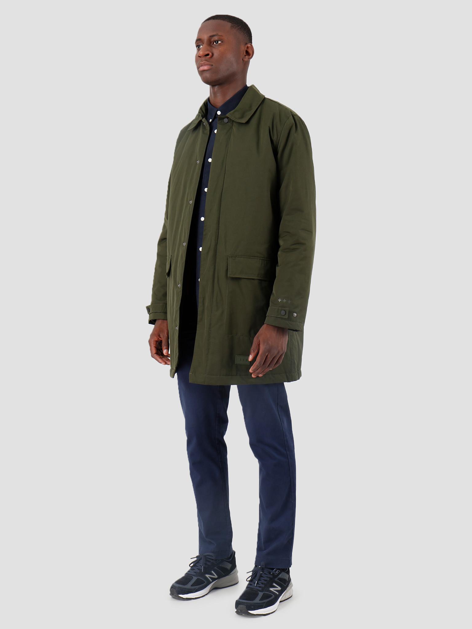 Quality Blanks Quality Blanks QB26 Mac Coat 2-in-1 Green Dark Red