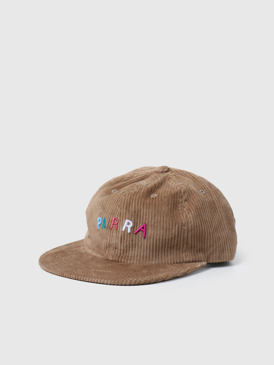 by Parra Fonts Are Us 6 Panel Hat Camel 44240