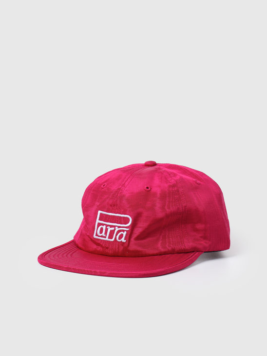 by Parra Race Logo 6 Panel Hat Pink 44226