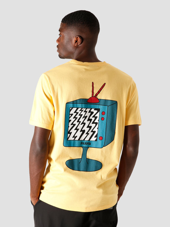 by Parra Channel Zero T-Shirt Yellow 44160