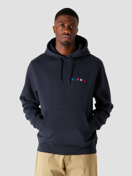 by Parra Fonts Are Us Hooded Sweatshirt Navy 44200