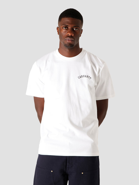 Carhartt WIP University Script T-Shirt White Black I028369-290