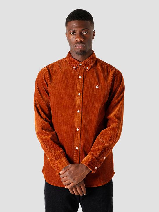 Carhartt WIP Longsleeve Madison Cord Shirt Brandy Wax I025247-0E990