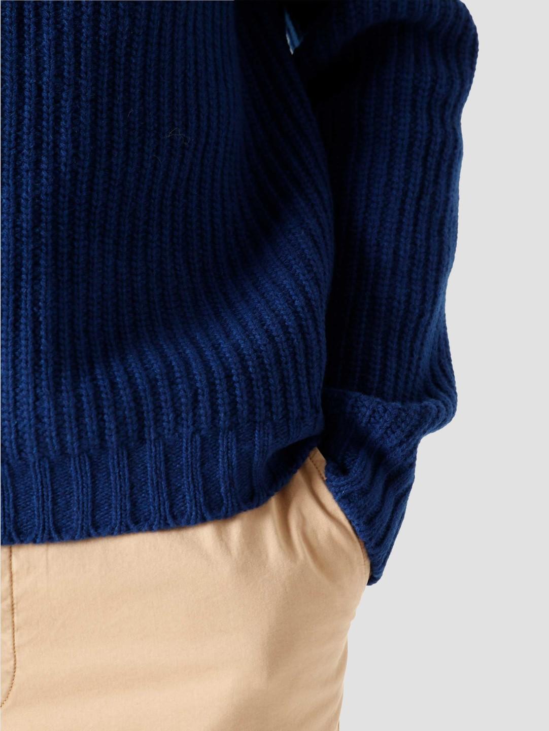 Libertine Libertine Libertine Libertine Transfer C-Neck Sweater Deep Blue 1972