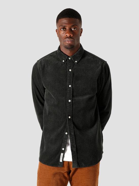 Carhartt WIP Longsleeve Madison Cord Shirt Dark Teal Wax I025247-0F290