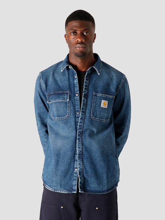 Carhartt WIP Salinac Shirt Jac Blue I027545-01WM
