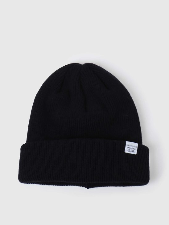 Norse Projects Norse Beanie Dark Navy N95-0569-7004