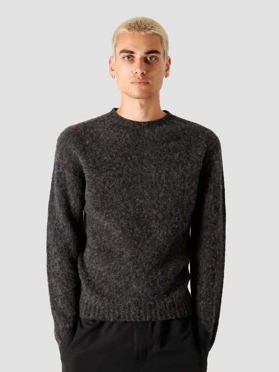 Norse Projects Birnir Brushed Lambswool Knitted Sweater Charcoal Melange N45-0423-1034