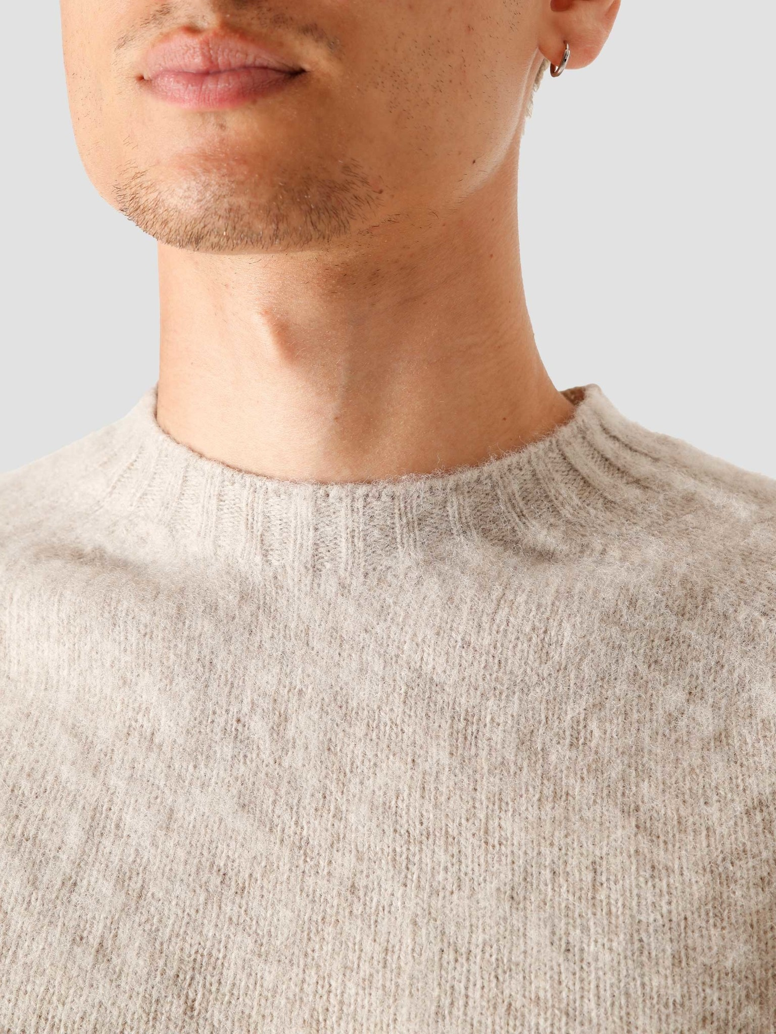 Norse Projects Norse Projects Birnir Brushed Lambswool Knitted Sweater Oatmeal N45-0423-2064