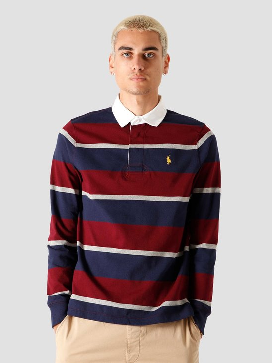 Polo Ralph Lauren Long Sleeve Knitted Sweater Classic Wine Multi 710818479002