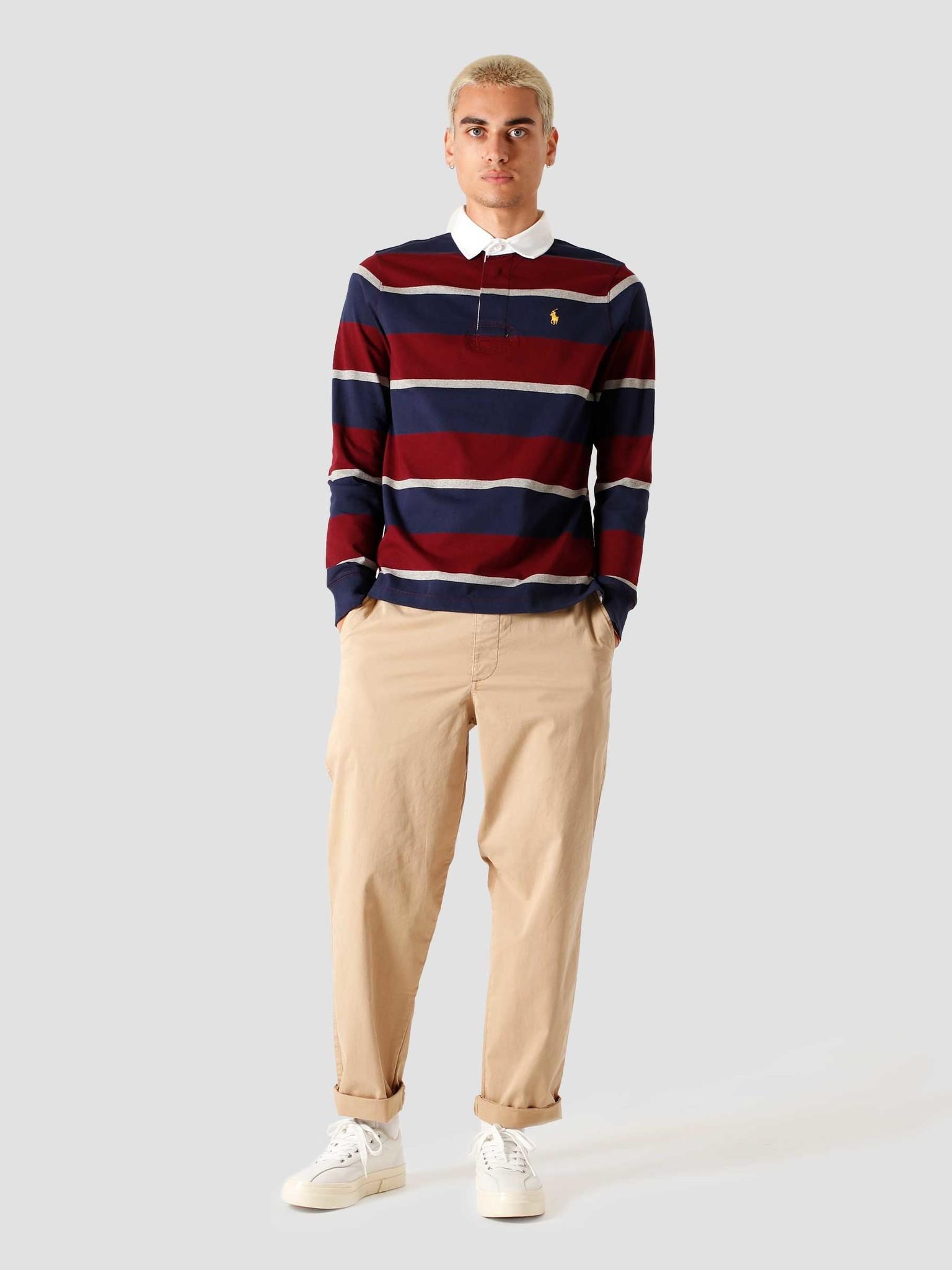 Polo Ralph Lauren Polo Ralph Lauren Long Sleeve Knitted Sweater Classic Wine Multi 710818479002