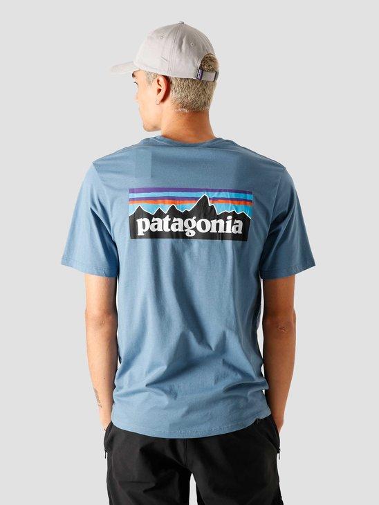 Patagonia M's P-6 Logo Organic T-Shirt Pigeon Blue 38535