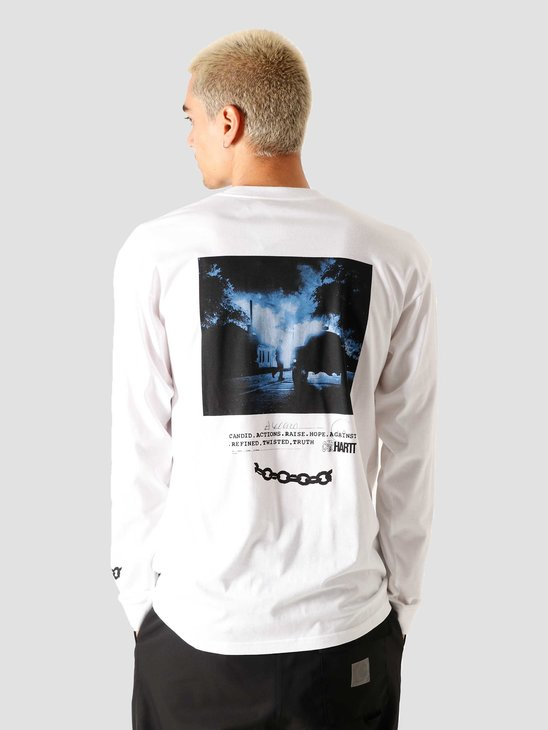 Carhartt WIP Longsleeve Twisted Truth T-Shirt White I028501-200