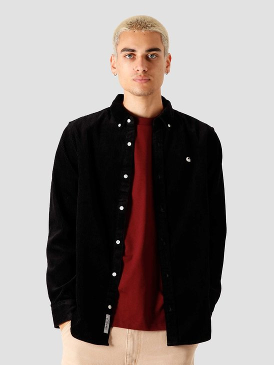 Carhartt WIP Madison Cord Longsleeve Shirt Black Wax I025247-8991