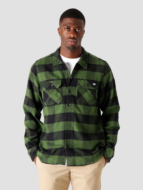 Dickies Sacramento Relaxed Longsleeve Shirt Pine Green DK0A4X8NPG01
