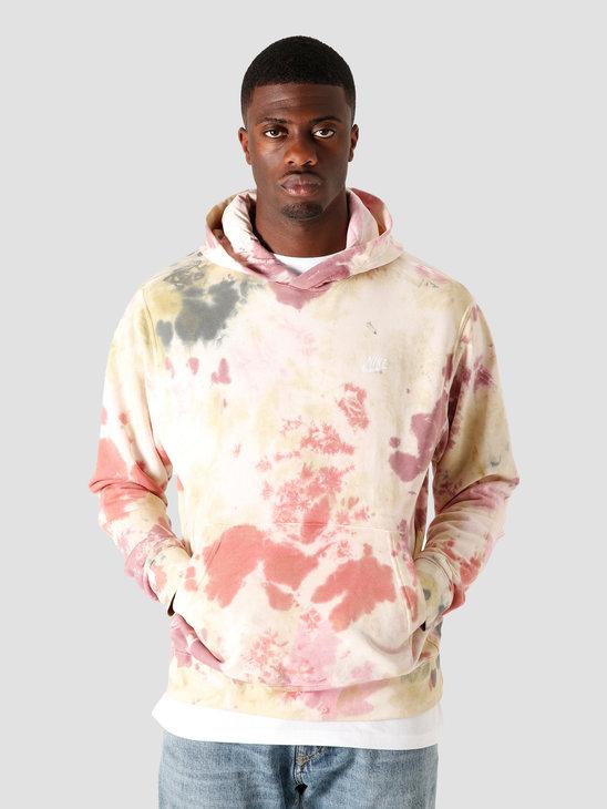Nike Nsw Hoodie FT Dye Dark Beetroot White CU4345-638