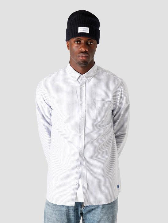 Libertine Libertine Hunter  Shirt White & Blue Stripe 1005