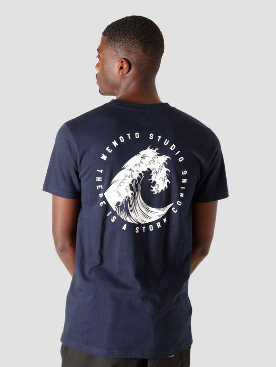 Wemoto Wave T-Shirt Navy Blue 161.142-400