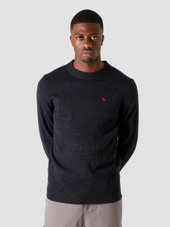 Wemoto Norman Knitted Sweater Navy Blue Nep 161.504-426