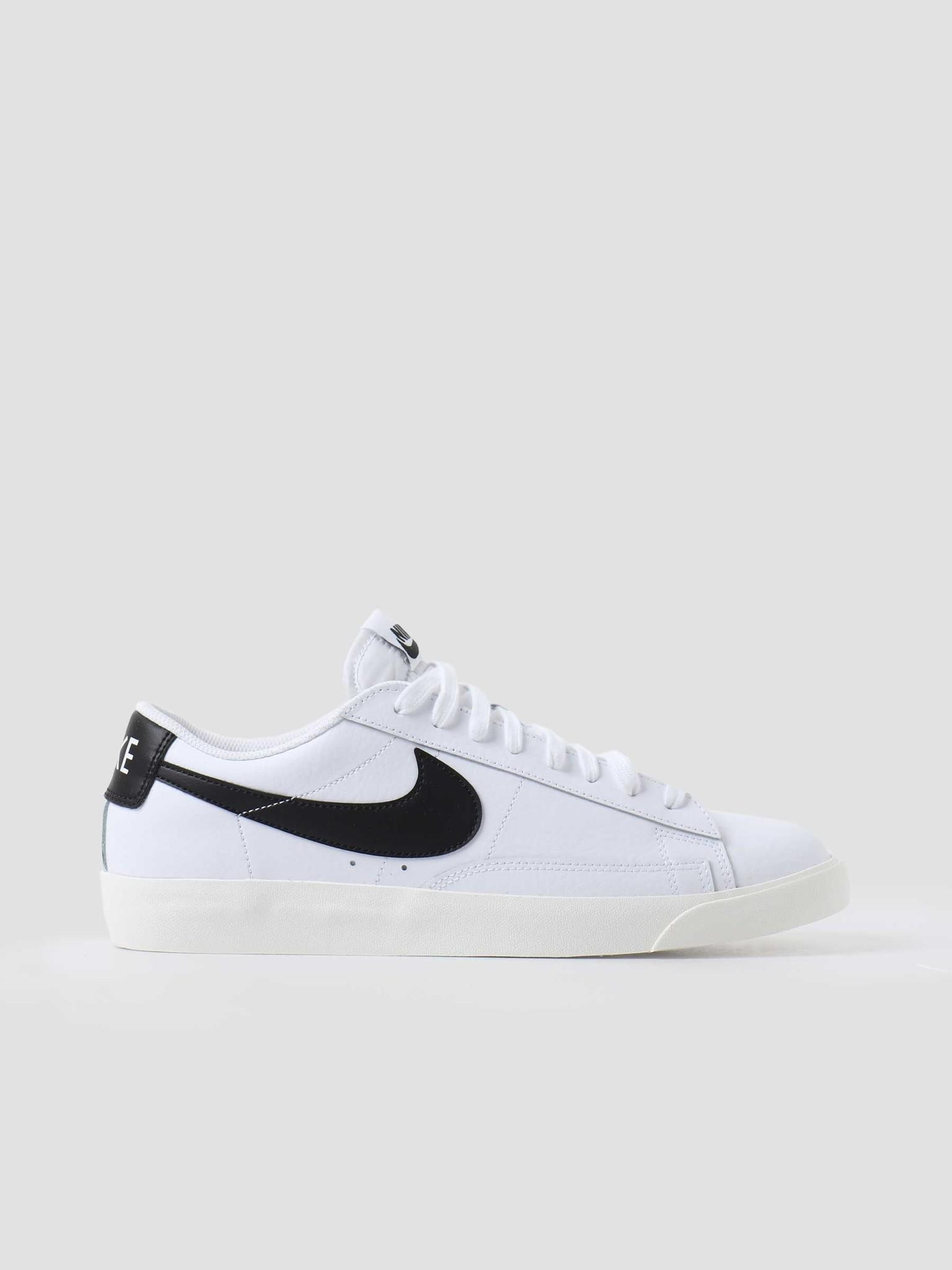 Nike Nike Blazer Low Leather White Black Sail CI6377-101